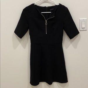 Topshop Zip Up Dress